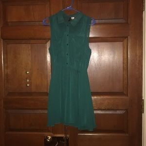 H&M Divided sleeveless collared dress in teal